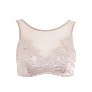 Topshop | Light Pink Satin Bralet